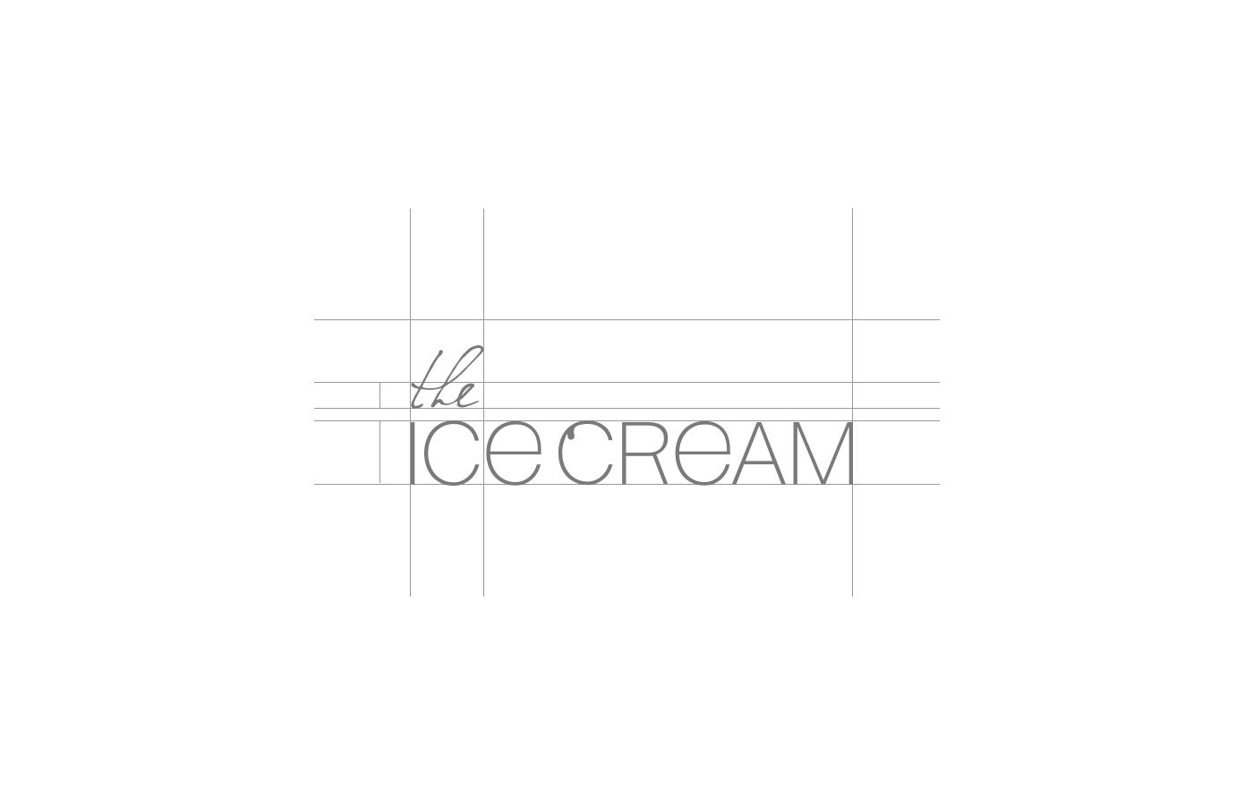 Брендинг для идеального мороженого THE ICE CREAM