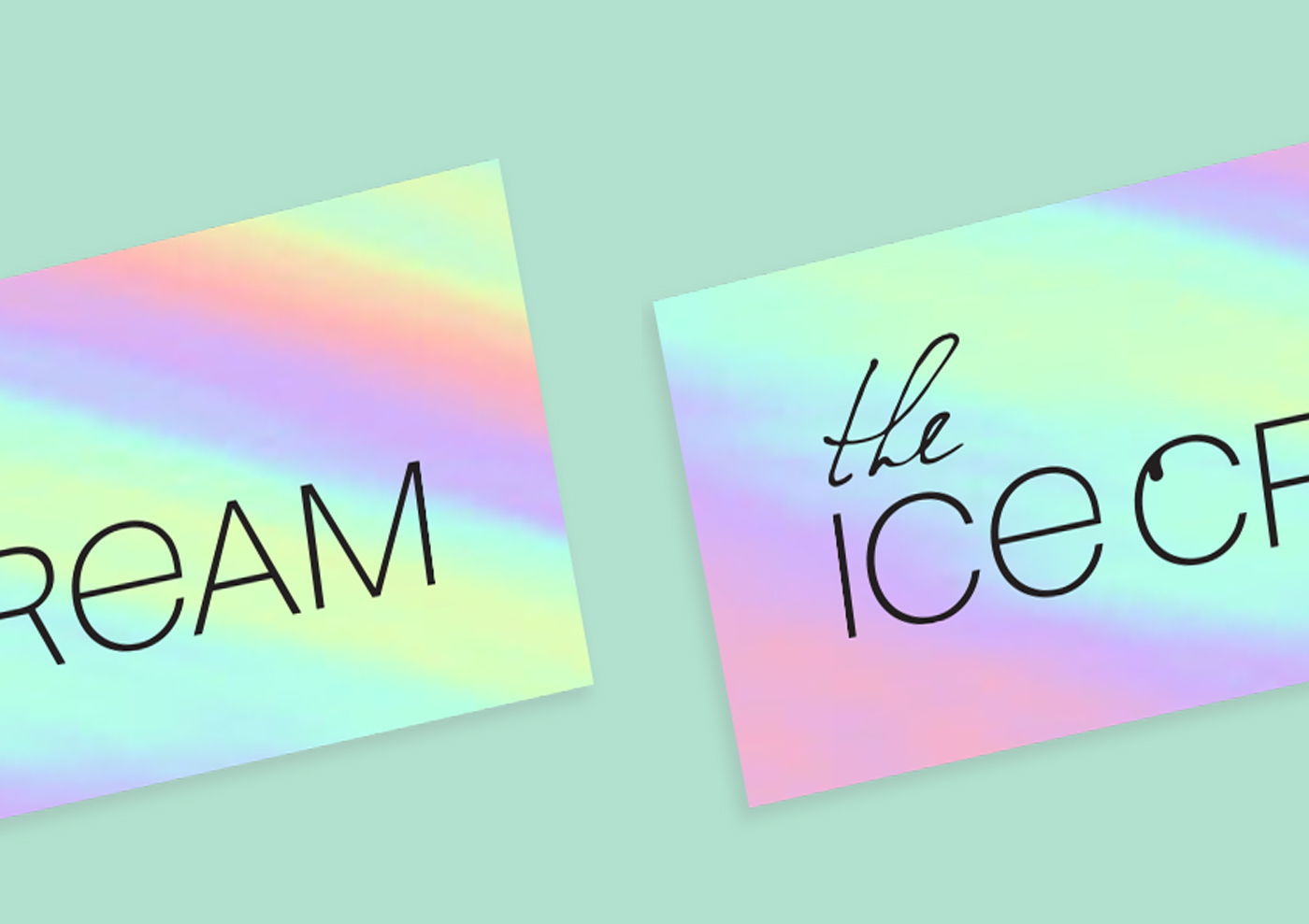 Branding and visual identity for perfect THE ICE CREAM