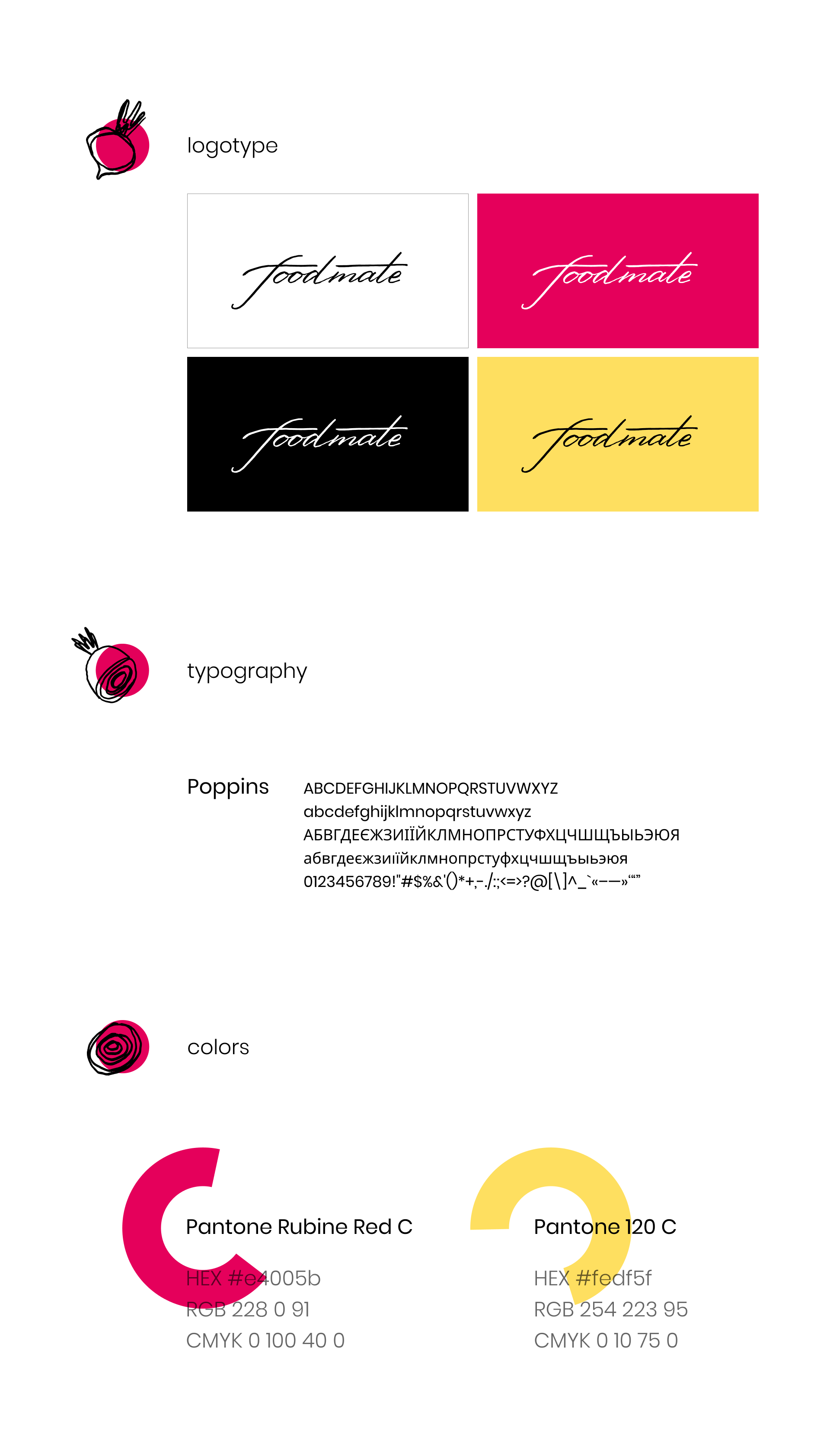 Typography and logo for foodmate