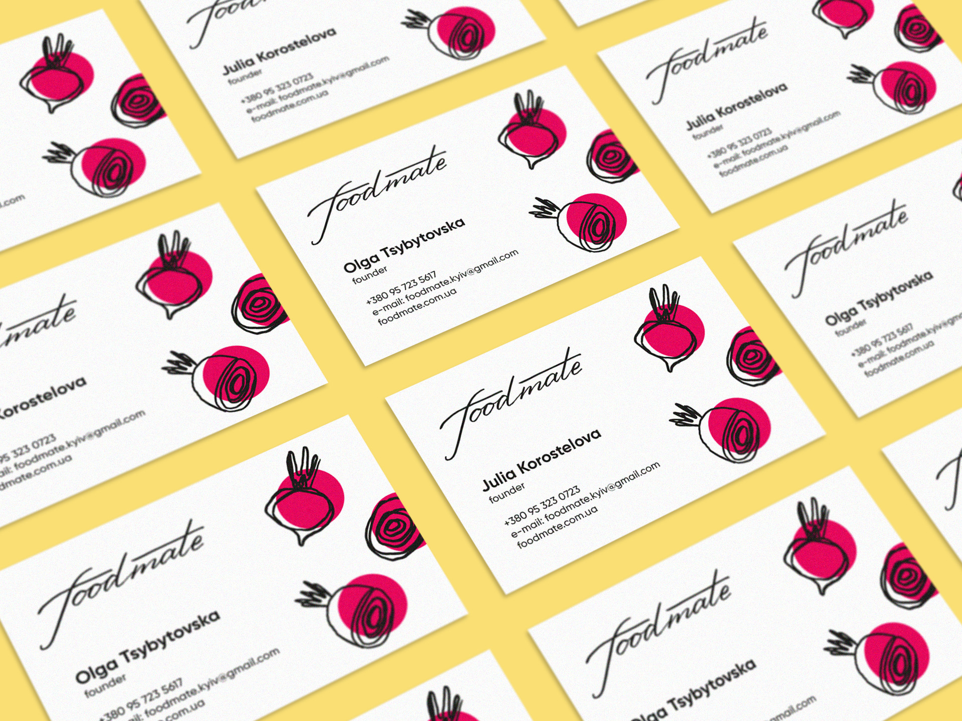 Business cards for foodmate