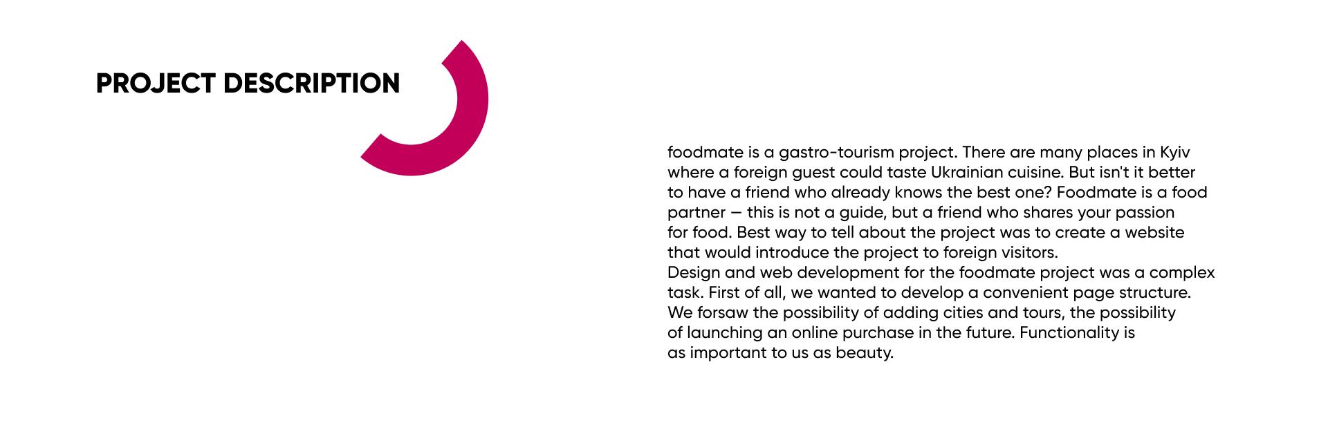 Описание проекта foodmate