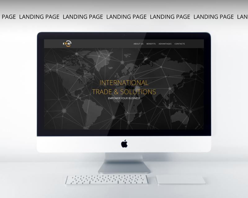 Односторінковий веб-сайт для фінансової компанії — веб-дизайн та розробка