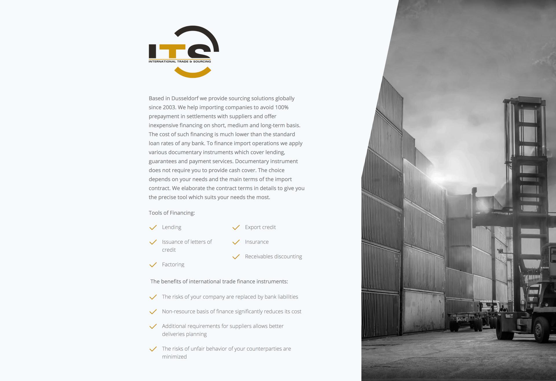 Одностраничный веб-сайт для финансовой компании — веб-дизайн и разработка
